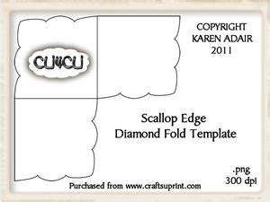 scalloped edge large with point card template tri fold screen card template cup328979 168 craftsuprint