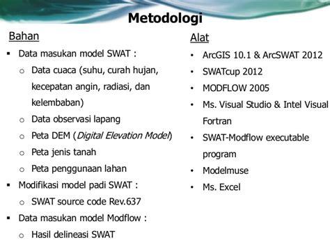 arcgis swat tutorial penelitian swat modflow
