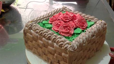 como decorar pasteles con rosas pastel canasta de rosas youtube
