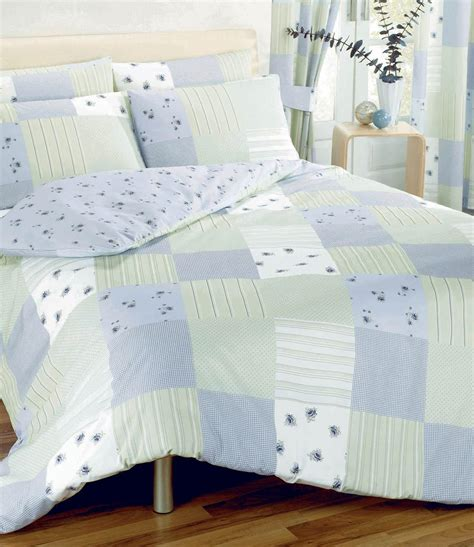 Blue Patchwork Duvet Cover - patchwork duvet cover blue free uk delivery terrys fabrics