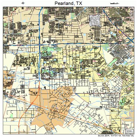 map pearland texas pearland texas map 4856348
