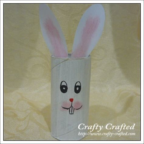 Bunny Toilet Paper Roll Craft - crafty crafted 187 archive crafts for children
