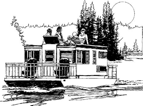 houseboat clipart black and white house boats clipart clipground