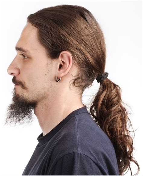 mens hair styles old fashion with pony tail trendy long hairstyles for dashing men hairzstyle com