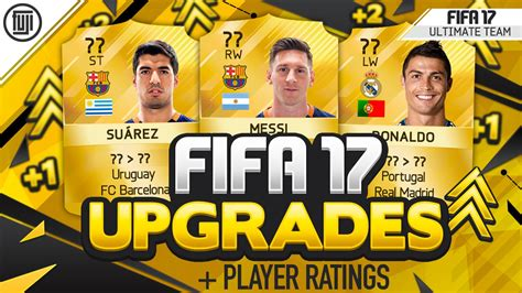 17 fifa player ratings fifa 17 player upgrades ratings ft messi suarez
