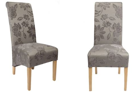 Chenille Dining Chairs Shankar Krista Dining Chairs Oak Legs Floral Chenille Velvet Sets Of 2 4 Or 6