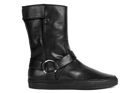 raf simons 2010 fall winter leather velcro boots hypebeast