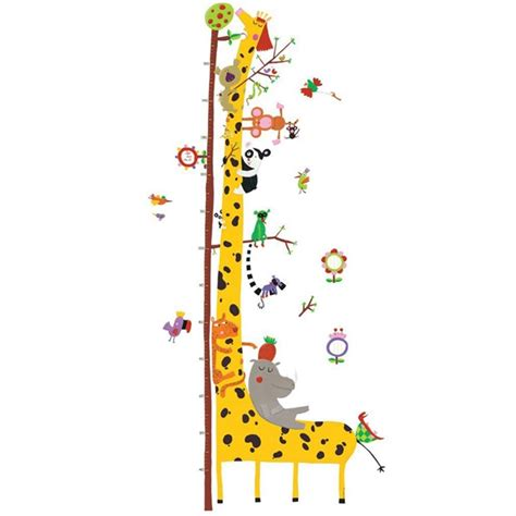 giochi di cavalli volanti adesivo murale giraffa e amici misuratore giocattoli in