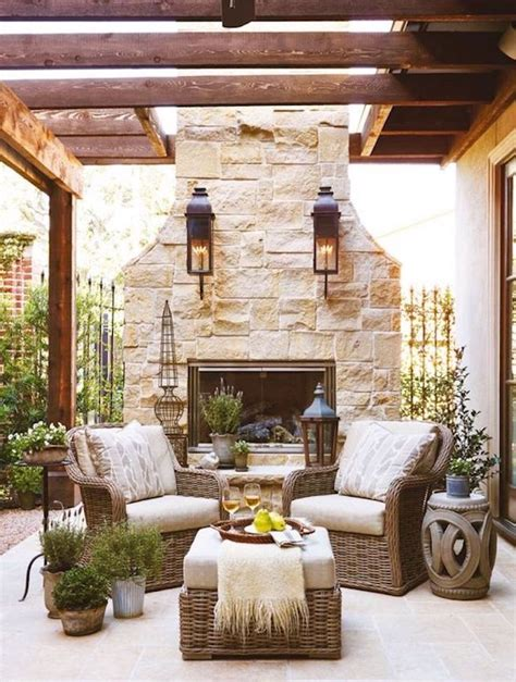 Patio Fireplace Designs Creative Outdoor Fireplace Designs And Ideas