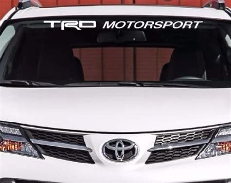 Windshield Motor Sport product trd motorsport windshield decal