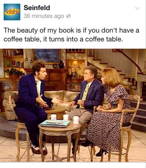 Cosmo Kramer Seinfeld Coffee Table Book About Coffee Kramer Coffee Table Book