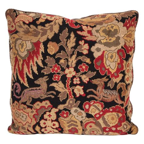 Needlepoint Pillows by Custom Vintage Needlepoint Pillow At 1stdibs