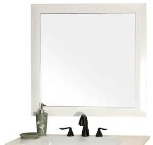 solid wood frame mirror white modern bathroom mirrors