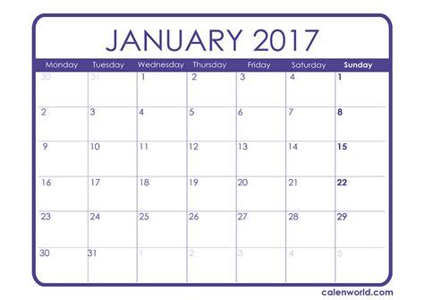 january 2017 calendar printable with holidays weekly january 2017 calendar uk weekly calendar template