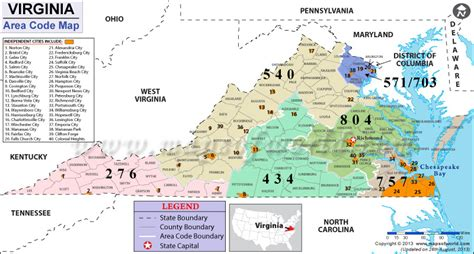 virginia zip code map virginia area codes map of virginia area codes