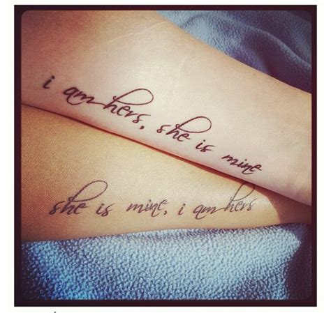 tattoo quote ideas for couples obviously chang it around to say she is mine i am hers