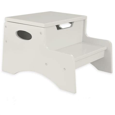 Step N Store Stool by Kidkraft Step N Store Step Stool In Vanilla 15634