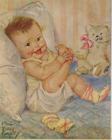 free painting for babies vintage baby lithograph baby w booties by joliebabie
