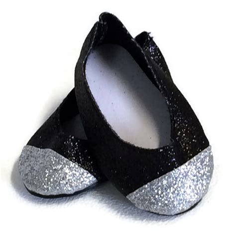 american doll slippers black silver glitter shoes made for 18 quot american