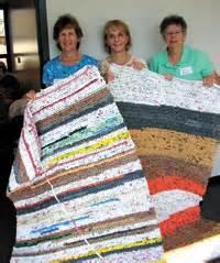 st colette parish turns plastic bags into mats for