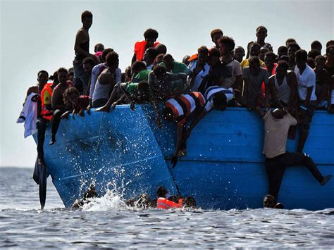 refugee boat picture at least 90 refugees drown in mediterranean as boat