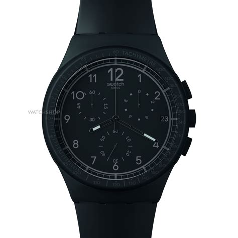 Swatch We Black s swatch black efficiency chronograph susb400