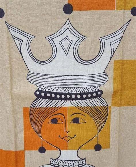 kitchen towel chess queen mid century modern