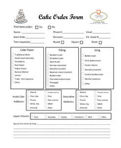 bakery order form template sle cake order form 10 free documents in word pdf