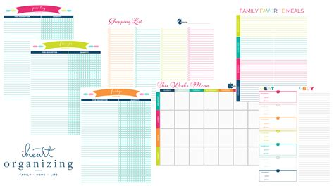 organized home printable menu planner ended back to school printable bundle sale clean mama