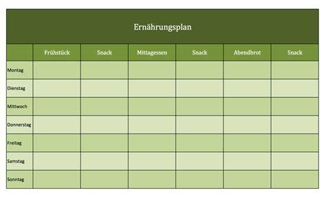 Vorlage Word Wochenplan Ern 228 Hrungsplan Als Excel Vorlagen Excel Vorlagen F 252 R Jeden Zweck