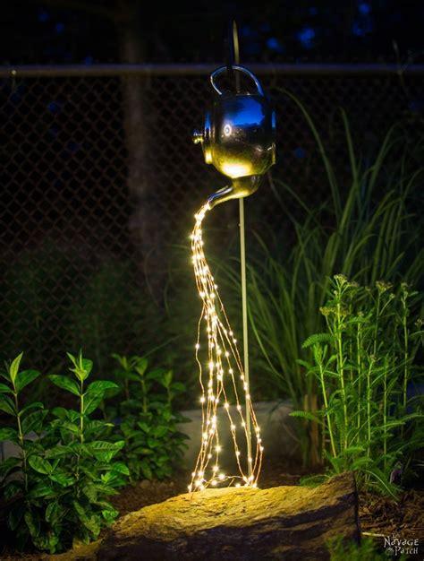 diy spilling solar lights teapot lights easy budget
