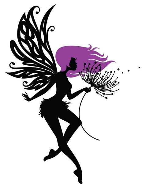 black magic tattoo designs magic black with purple hair blowing on dandelion