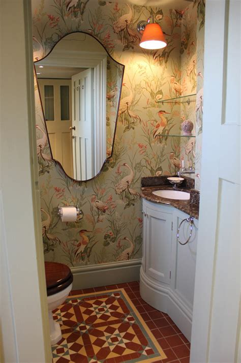 Tiny Bathroom Ideas Pinterest charming cloakroom wallpaper wallpapered blog