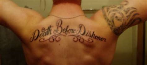 death before dishonor tattoo before dishonor
