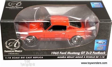 Ertl Authentics American 1965 Ford Mustang Gt 2 2 Fastback rc2 ertl authentics ford mustang gt 2 2 fastback top 1965 1 18 orange 39393