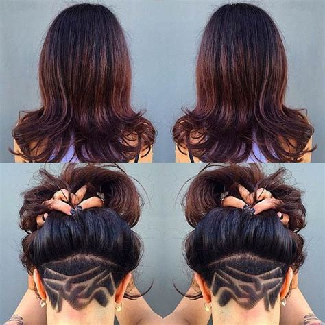 pictures of womens hair styles with long bottom and short top 31 trendy undercut styles for bold women page 2 of 3
