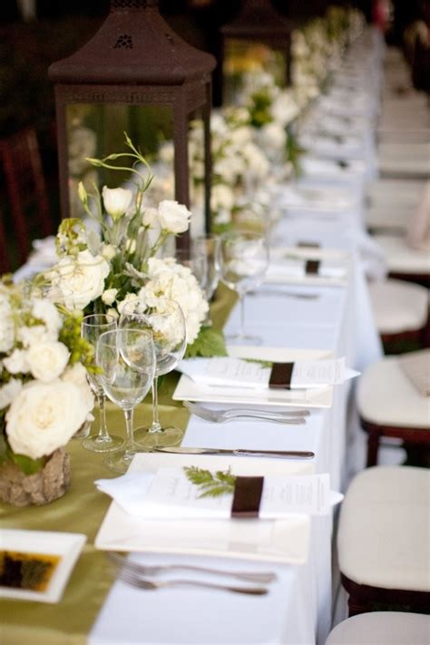 beautiful table settings green and brown wedding table setting fab mood wedding colours
