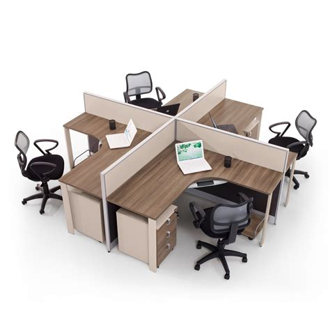 workstation table design modern wood office furniture workstation with partition