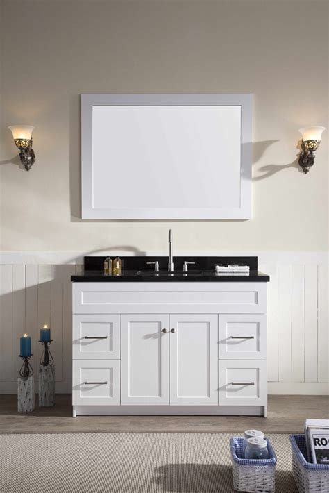 white bathroom vanity with black countertop ariel hamlet 49 quot single sink vanity set with absolute