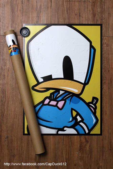 shon side cap duck sticker poster  behance