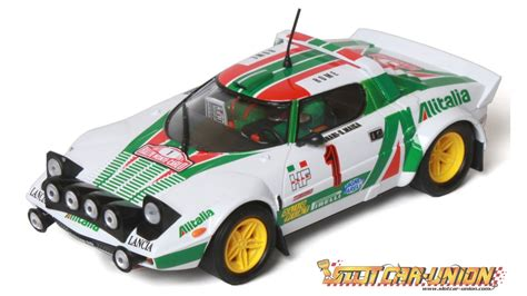 Lancia Stratos Slot Car Ninco 50625 Lancia Stratos Alitalia Slot Car Union
