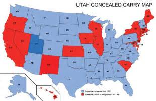 texas reciprocity map utah concealed weapons permit reciprocity map misc utah weapons and maps