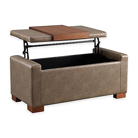 Lift Top Storage Ottoman Davis Lift Top Storage Ottoman Www Bedbathandbeyond