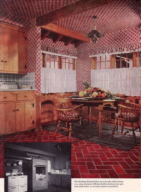 Early American Interior Design by 1950s Kitchen Style Afreakatheart