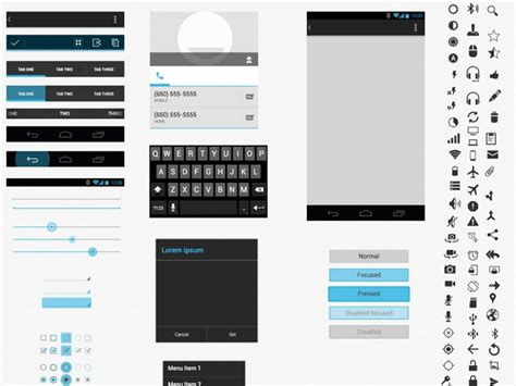 free android design templates free android gui wireframe templates 2014