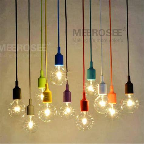 8 Light Rectangular Chandelier Colorful E27 Socket Pendant Light Suspension Drop Lampe