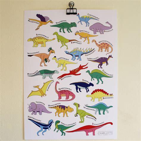 printable dinosaur poster alphabet dinosaur poster print by charlotte filshie
