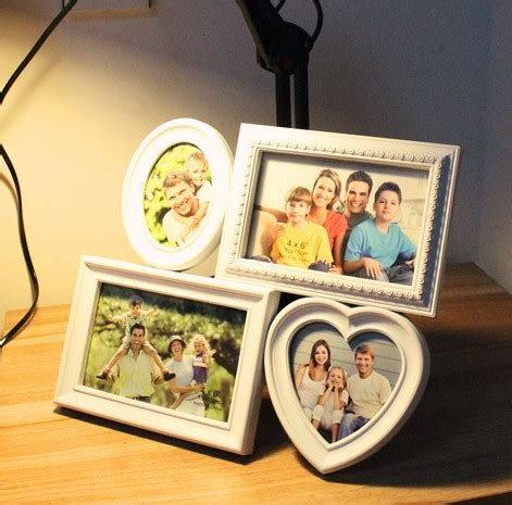 unique gifts home decor fashion photo frames for 4 pieces pictures modern plastic frame for home decorations unique