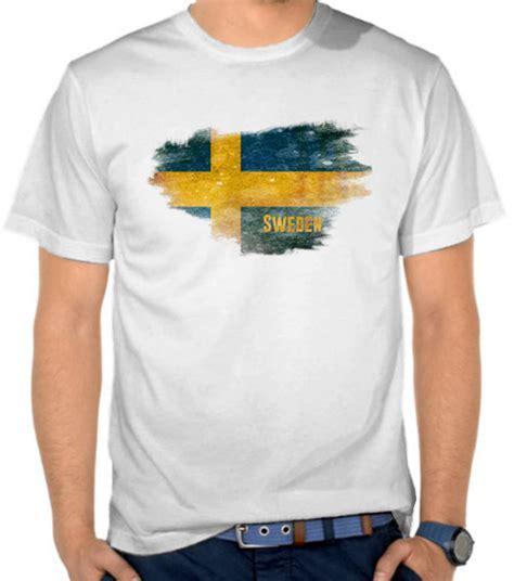 Kaos T Shirt Distro Adidas Retro jual kaos bendera sweden swedia toko baju eropa