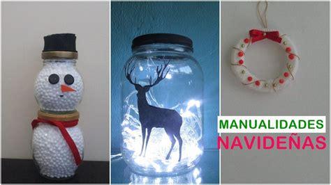 manualidades navide241as faciles de hacer 3 ideas para navidad con reciclaje adornos navide 241 os f 225 ciles y econ 243 micos